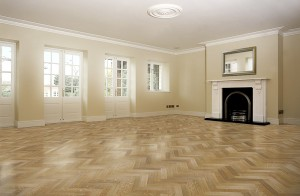 high spec. wood flooring living room